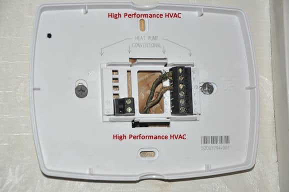 4 wire or 5 wire thermostat wiring problem wifi tstat rh highperformancehvac com