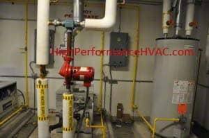 & Domestic Hot Water Mixing Valve and Domestic Storage Tank