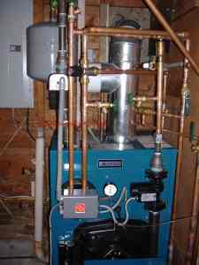 hot water boiler piping