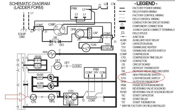 refrigeration pressure switch wiring diagram