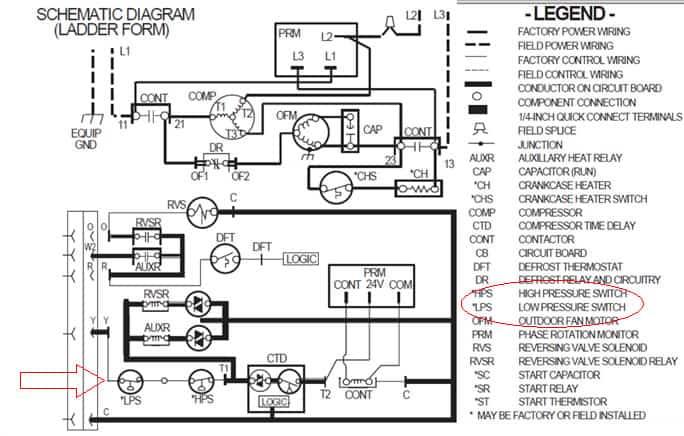 refrigeration pressure switch wiring diagram