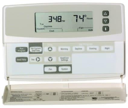 blank display on thermostat problem screen honeywell. Black Bedroom Furniture Sets. Home Design Ideas