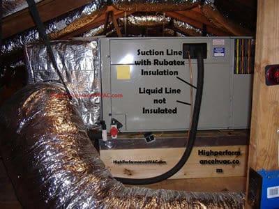 Attic Installation Horizontal Flow Air Handler   HVAC Airflow