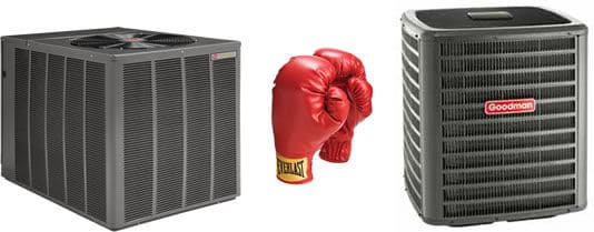 goodman versus rheem air conditioners