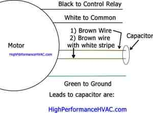 How to Wire a Run Capacitor to a Motor Blower & Condenser ... Hvac Blower Motor Wiring Diagram on