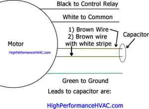 How to Wire a Run Capacitor to a Motor Blower & Condenser HVAC Wiring