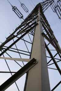 electrical utility towers