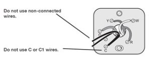 the C wire common wire for thermostat installation