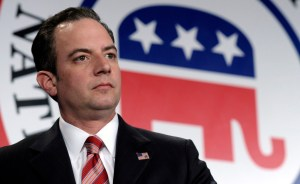 "FILE-In this Jan. 24, 2014 file photo, Republican National Committee chairman Reince Priebus is seen at the RNC winter meeting in Washington. Having fallen short twice recently, Ohio is making a big push to land the 2016 Republican National Convention with three cities bidding as finalists, eager to reassert its Midwestern political clout to a party that may be slowly moving away from it. In interviews, RNC chairman Reince Priebus and members of the selection committee including chairwoman Enid Mickelsen downplayed swing state status as a top factor in their decision, emphasizing that having at least $55 million in private fundraising, as well as hotel space and creating a good ""delegate experience"" were more important. (AP Photo/Susan Walsh, File)"