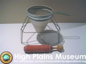High Plains Museum | HHG388 Colander with stand and pestle