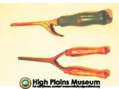 High Plains Museum   MC004 Marcel wave curling iron & handle