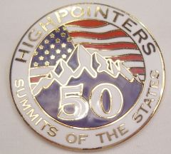 50 State Enameled Pin