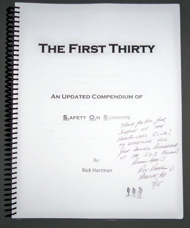 Bound Compendium of Rick Hartman's S.O.S. First Thirty