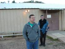 Will Mokszycki and Ron Tagliapietra during the Highpointers 2002 Convention at Black Mesa, Oklahoma