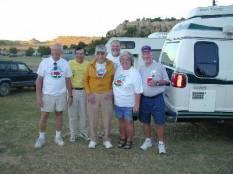 Don Holmes, Gene Elliott, Paul Zumwalt, Craig Noland and Mary Jane Noland during the Highpointers 2002 Convention at Black Mesa, Oklahoma