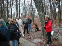 Jean Trousdale at Taum Sauk for the Spreading of Jack Longacre's Ashes