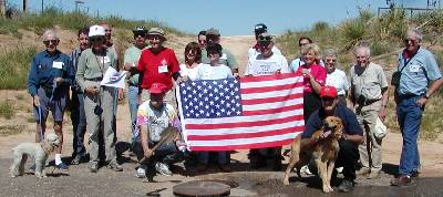 Kansas-Colorado-Oklahoma Tripoint in Cimmarron County During Highpointers 2002 Convention at Black Mesa, Oklahoma