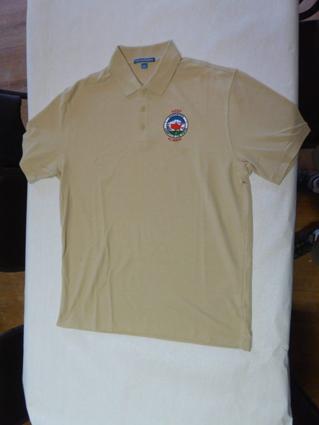Polo Shirt – Tan with small Club logo on Front