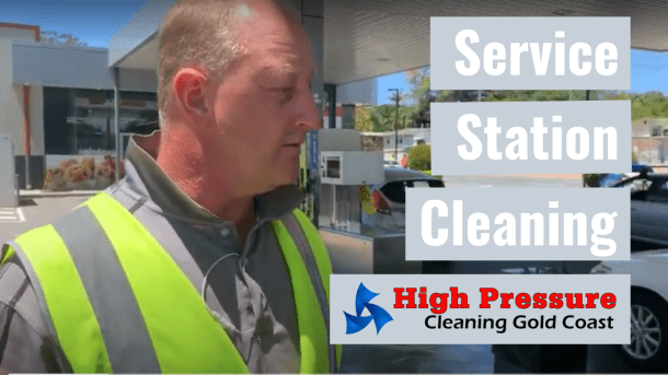 Service Station Cleaning by High Pressure Cleaning Gold Coast | EBC