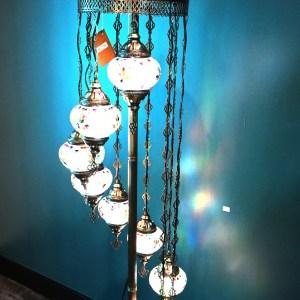 9 Globe Turkish Floor Lamp