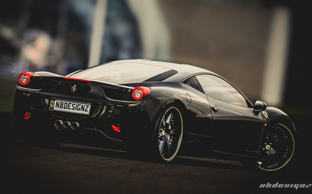 Ferrari Black Edition Desktop Background