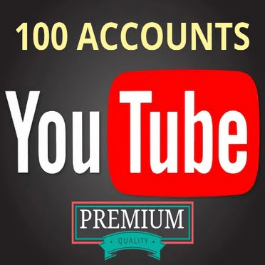100 YouTube Accounts with Old GMails