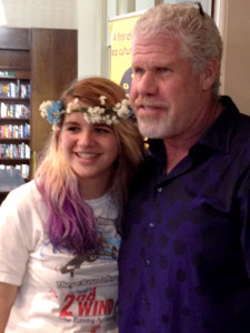 My daughter, Tyler, with Perlman.