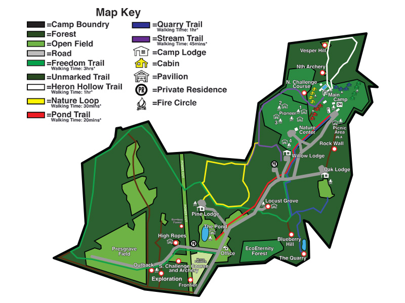 Maps and Directions | Camp Highroad Camp Hill Map on