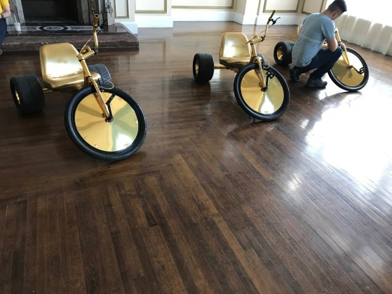 Migos custom gold High Roller adult big wheels