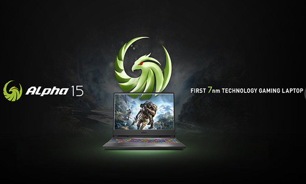 MSI Alpha 15 presume de ser el «primer portátil Gaming de 7 nm» gracias a AMD Ryzen