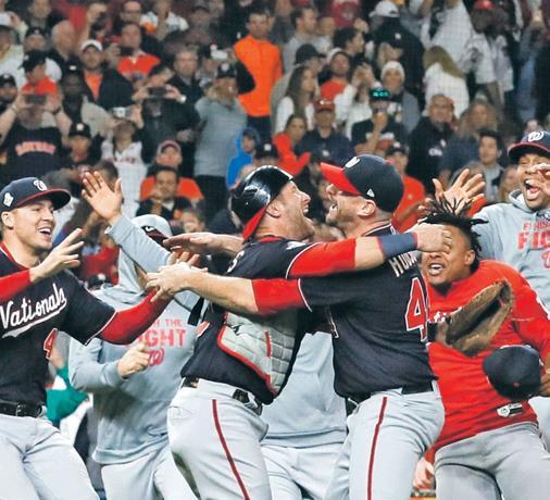 Nacionales ganan la Serie Mundial de MLB