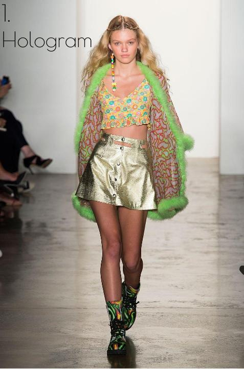 Maggie Laine models in Jeremy Scott's SS2015 collection in New York Fashion Week. Photo: Alessandro Lucioni/Details by Armonda Grillo IMAXTREE.COM