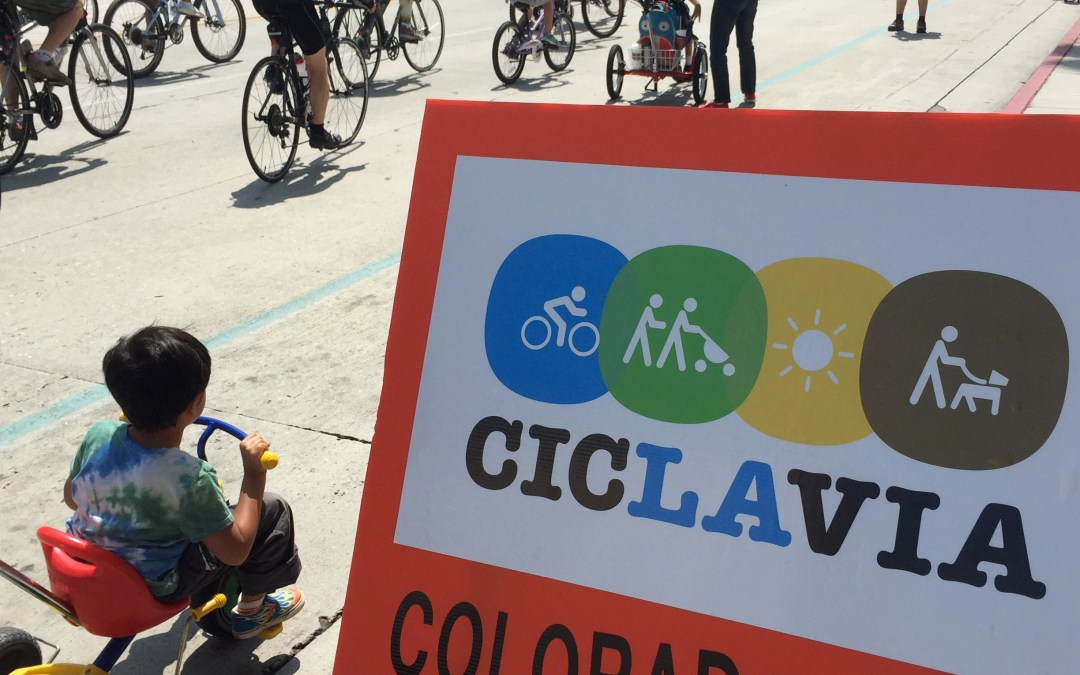 Cyclists dominate the road at CicLAvia