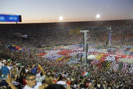 The Los Angeles Coliseum is filled with 60,000 fans during the Special Olympics World Games Opening Ceremony on Saturday.