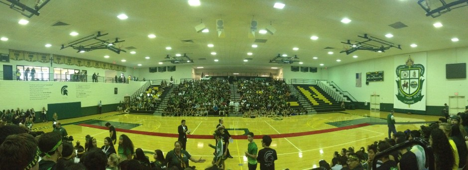 Damien Homecoming Rally. Photo by Abigail Felix.