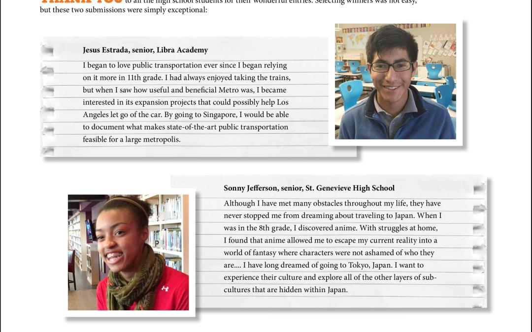 Meet the high school students selected for a free trip to Asia!