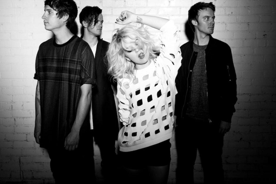 band members: Sarah McTaggart, Judah McCarthy, Michael Panek, and Jon Garcia