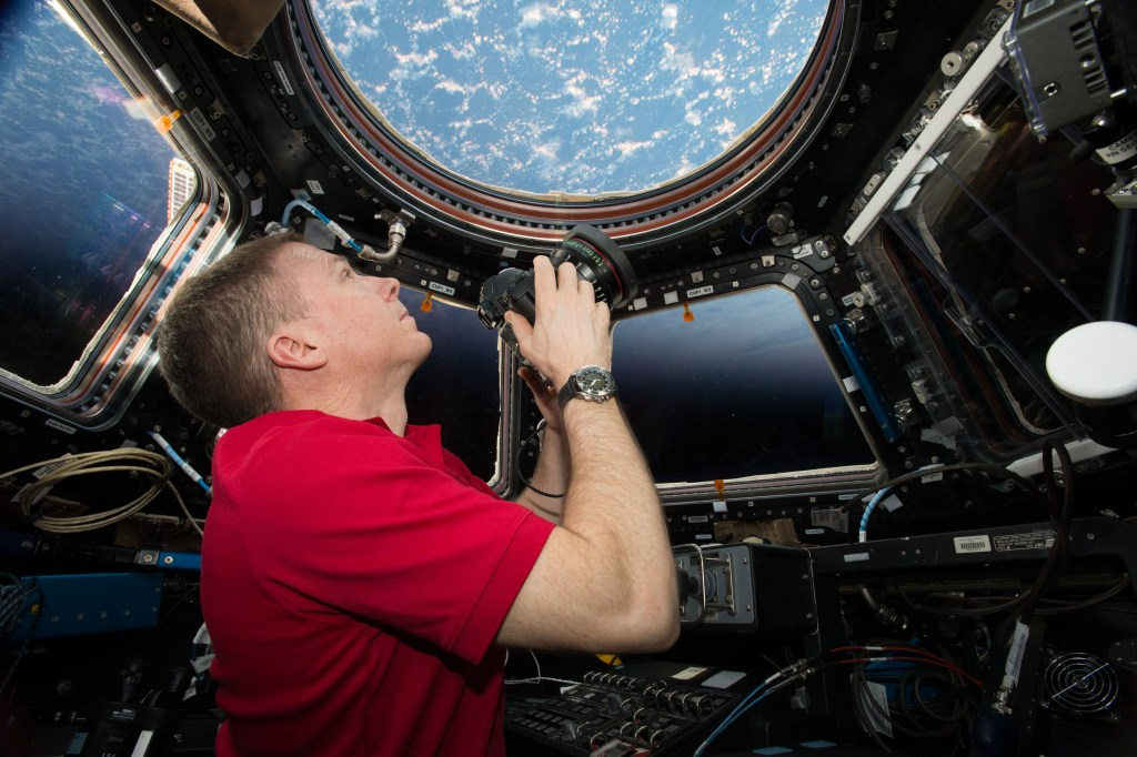 IMAX® film A Beautiful Planet – Onboard the International Space Station (ISS) – NASA Commander Terry Virts shoots through the window of the International Space Station's Cupola Observation Module. © 2016 IMAX Corporation Photo courtesy NASA