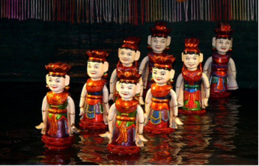 Water Puppet Show (Photo courtesy of www.66.hk)