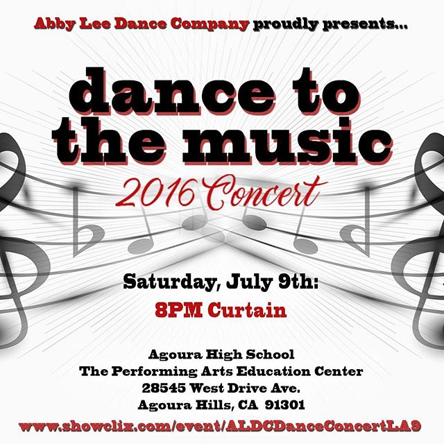 Join the ALDC LA for their first annual dance recital, 'Dance to the Music!'