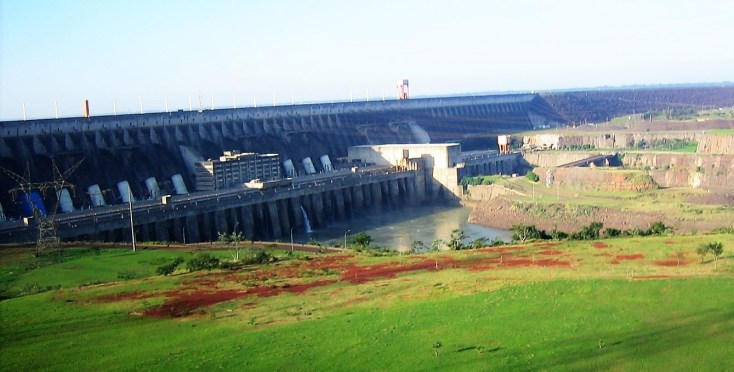 Located between Brazil and Paraguay, the Itaipu Dam is one of the seven modern wonders of the world, according to Popular Mechanics. Its hydropower produces 90% of Paraguay's and 20% of Brazil electricity.
