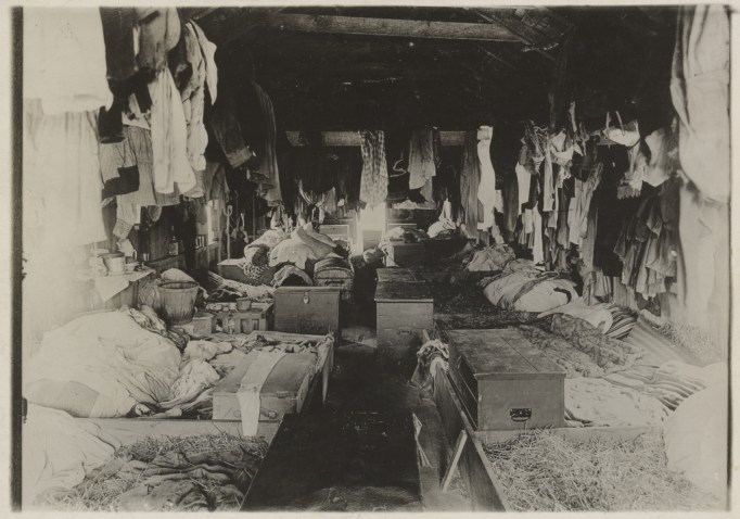 interior of berry picker's house