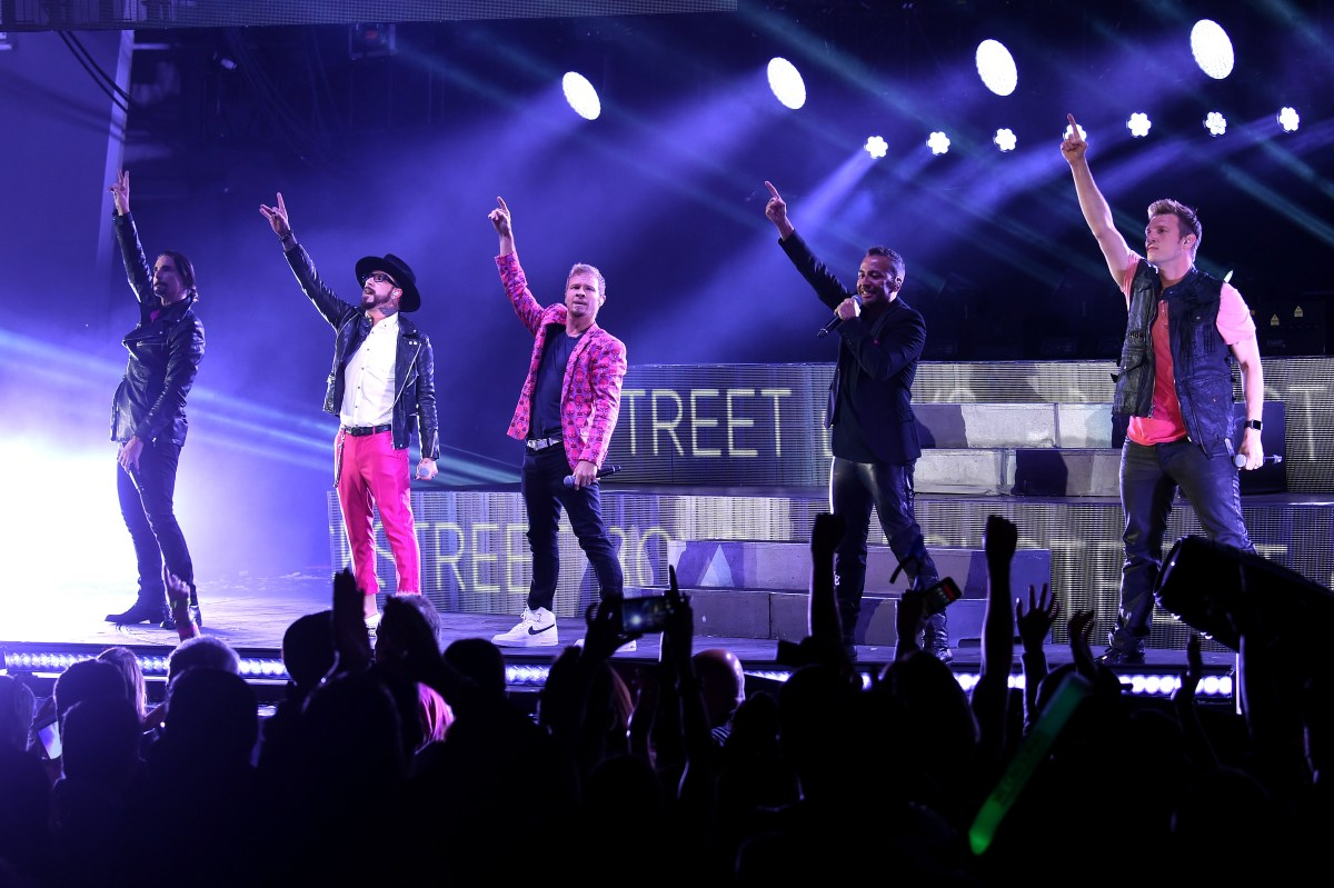 HOLLYWOOD, CA - OCTOBER 22: (L-R) Recording artists Kevin Richardson, A.J. McLean, Brian Littrell, Howie Dorough and Nick Carter of Backstreet Boys perform onstage during CBS RADIO's fourth annual We Can Survive concert at the Hollywood Bowl on October 22, 2016 in Hollywood, California. (Photo by Kevin Winter/Getty Images for CBS Radio, Inc.)