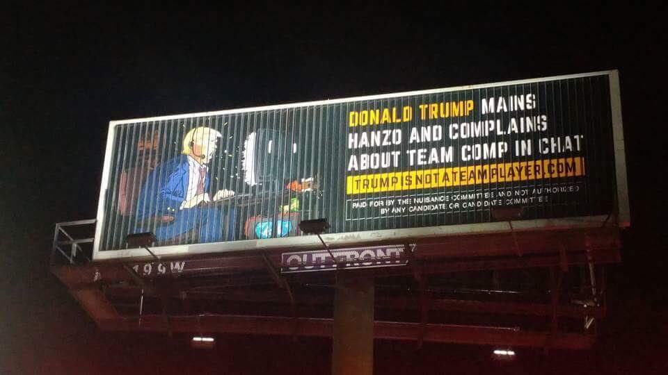 The witty billboard was spotted by the University of Central Florida. Credit: Jason Paradise/@UbiParadise via Twitter