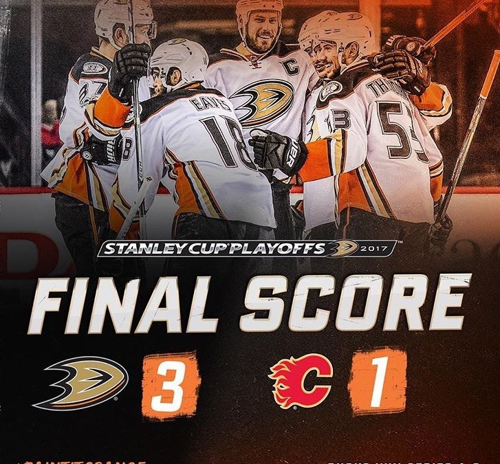 Ducks sweep Flames in first round of the Stanley Cup playoffs