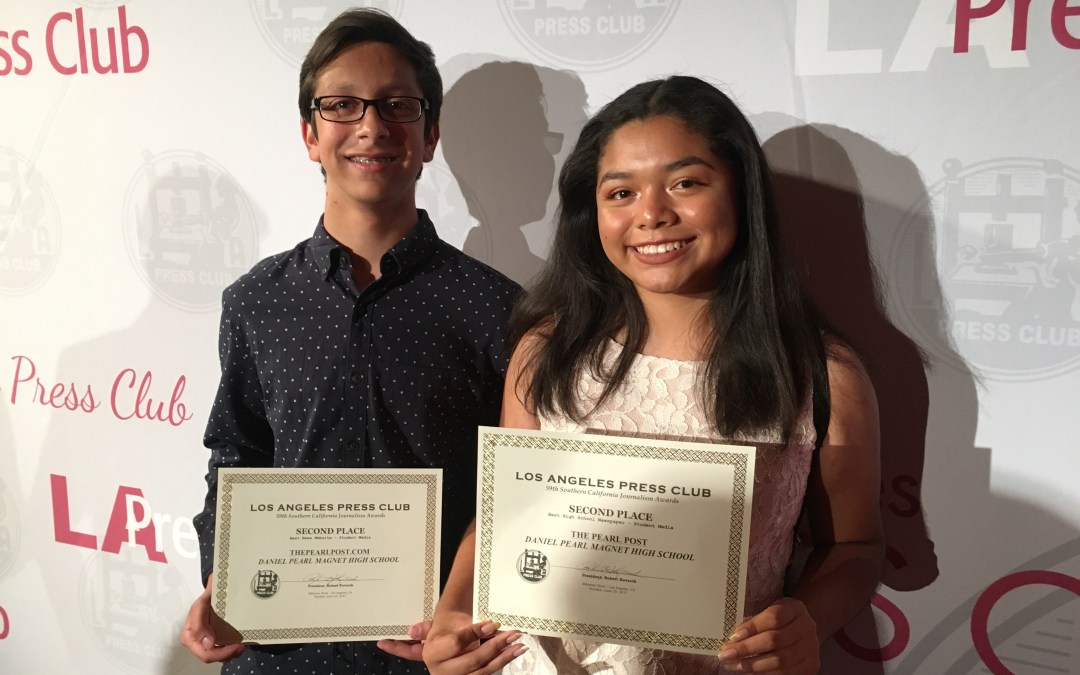 The Pearl Post places second twice at 59th L.A. Press Club Awards