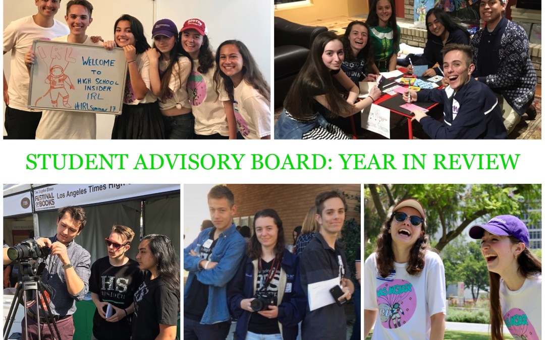 Student Advisory Board: Year in review