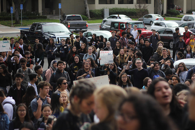 FVHS students march in solidarity for National Walkout Day
