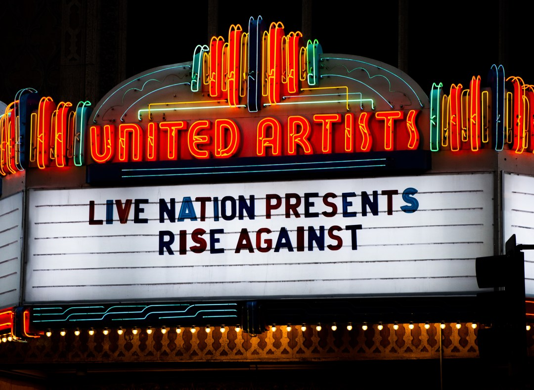 Rise Against at The Theatre at Ace Hotel on May 5, 2019 (Photo by Ashley Ramynke)