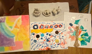 During the youth summer program, students worked with a variety of art mediums. (Image courtesy of L.A. Braille Institute)